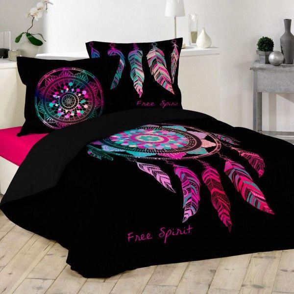 housse de couette 220 x 240 cm taies porte bonheur. Black Bedroom Furniture Sets. Home Design Ideas