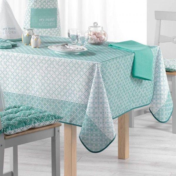 nappe de table anti tache linge de table eminza. Black Bedroom Furniture Sets. Home Design Ideas