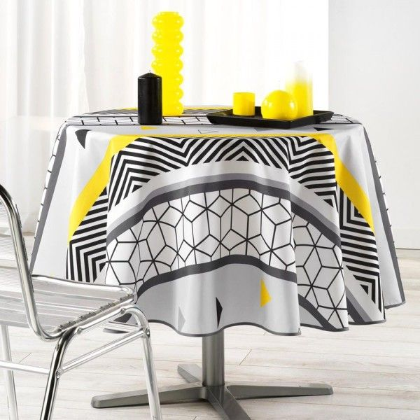 Nappe ronde (D180 cm) Yellow Mix