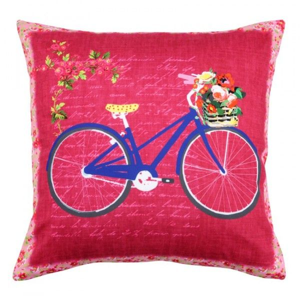Coussin Bicycle Garden