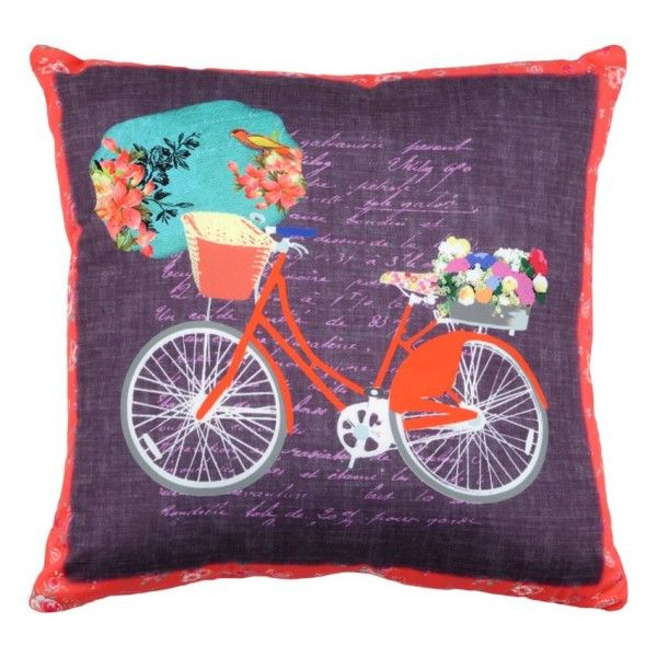 Coussin Bicycle Flower