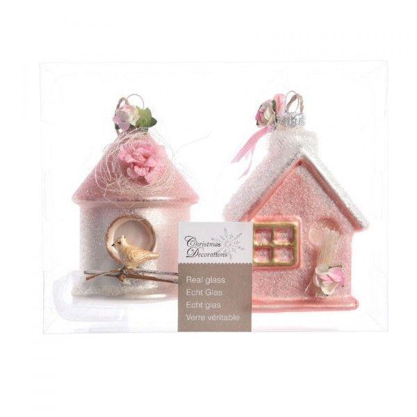 D coration suspendre decoration de sapin eminza for Decoration maison rose poudre
