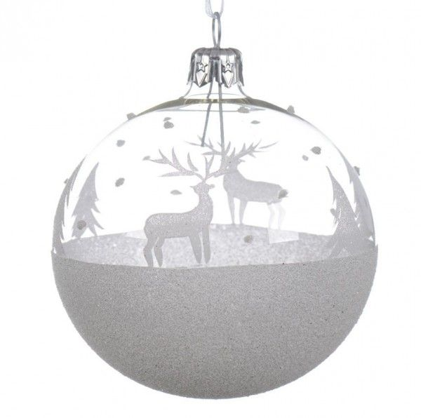 Boule de no l transparent decoration de sapin eminza - Comment decorer une boule de noel transparente ...