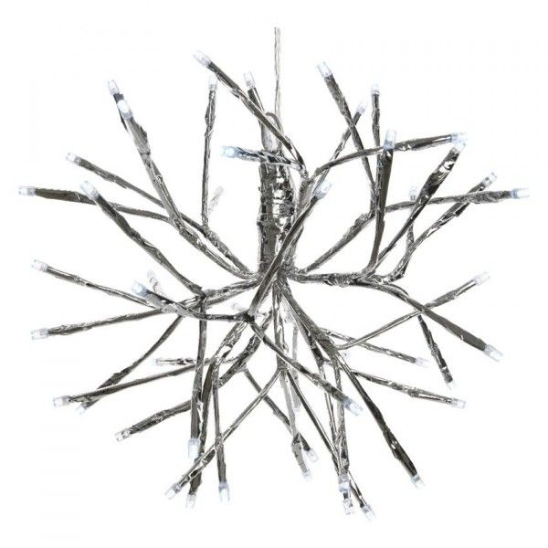 Boule de branches lumineuses Brumalis (48 LED) Blanc froid CA