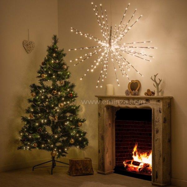 etoile lumineuse effet cascade d100 cm ca blanc chaud 320 led d coration lumineuse eminza. Black Bedroom Furniture Sets. Home Design Ideas