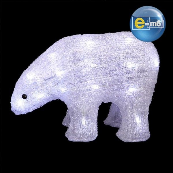 Ours Solaire Blanc froid 30 LED
