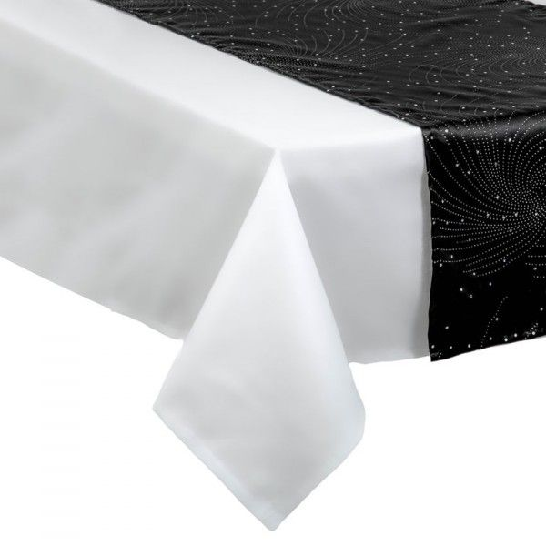 chemin de table design noir nappe et chemin de table de. Black Bedroom Furniture Sets. Home Design Ideas