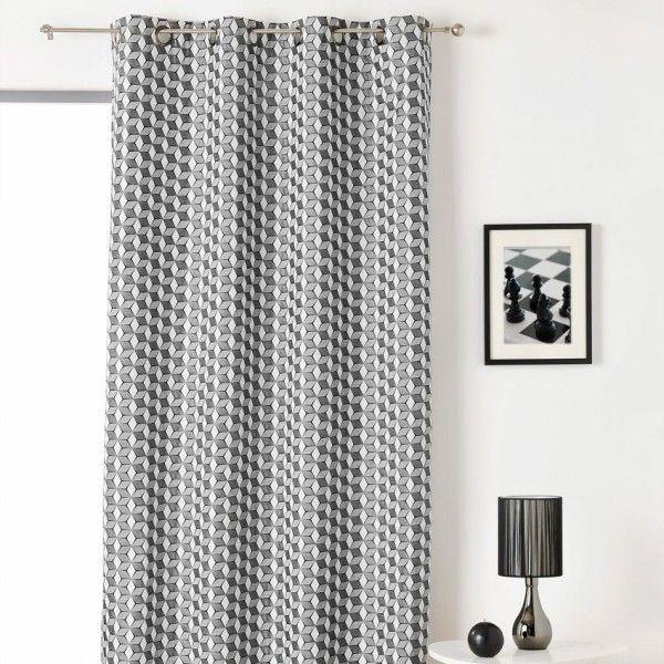 rideau tamisant noir rideau et voilage eminza. Black Bedroom Furniture Sets. Home Design Ideas