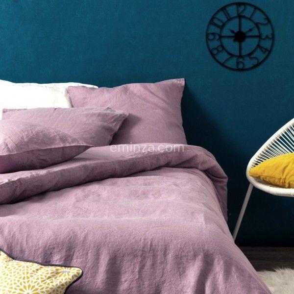 housse de couette 240 cm lin lav pure mauve housse de. Black Bedroom Furniture Sets. Home Design Ideas