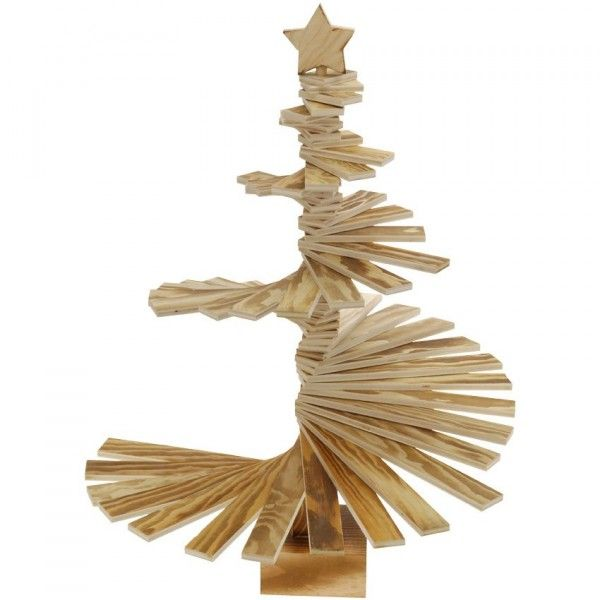 Sapin de table décoratif Spirale H56 cm Naturel