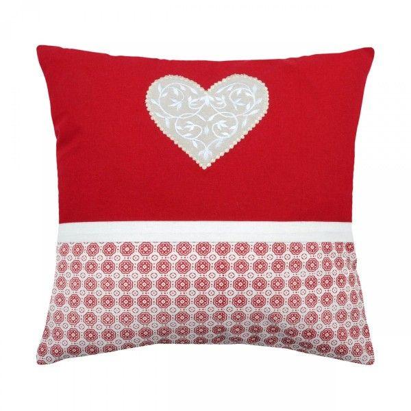 coussin et housse de coussin rouge coussin et galette. Black Bedroom Furniture Sets. Home Design Ideas