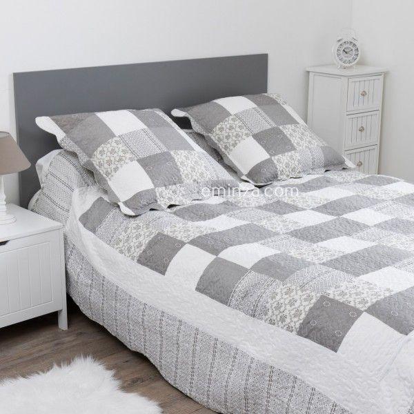 couvre lit boutis linge de lit 3 eminza. Black Bedroom Furniture Sets. Home Design Ideas