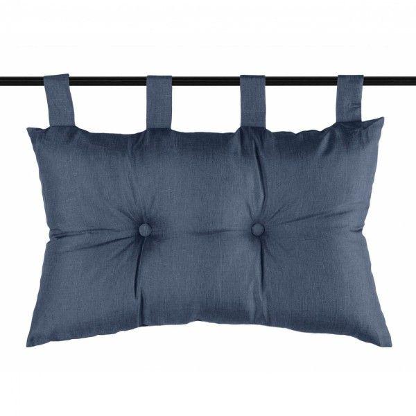 t te de lit 70 cm b a bleu marine linge de lit eminza. Black Bedroom Furniture Sets. Home Design Ideas