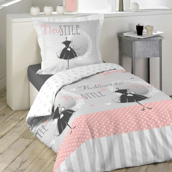 housse de couette 140 x 200 cm linge de lit eminza. Black Bedroom Furniture Sets. Home Design Ideas