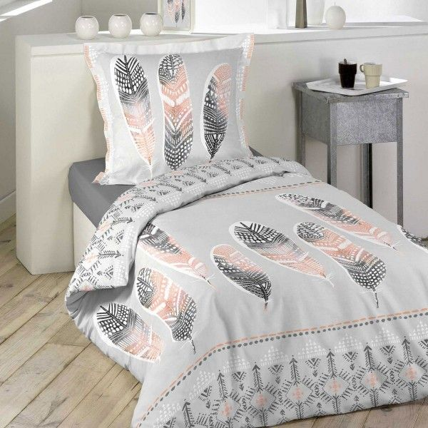 housse de couette 140 x 200 cm linge de lit eminza. Black Bedroom Furniture Sets. Home Design Ideas