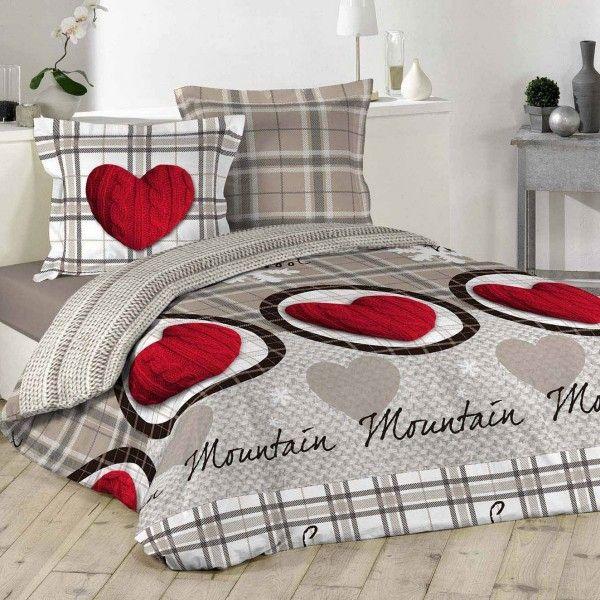linge de lit style montagne eminza