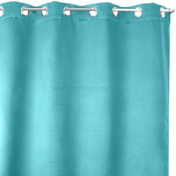 rideau obscurcissant isolant calore 140 x h180 cm bleu. Black Bedroom Furniture Sets. Home Design Ideas