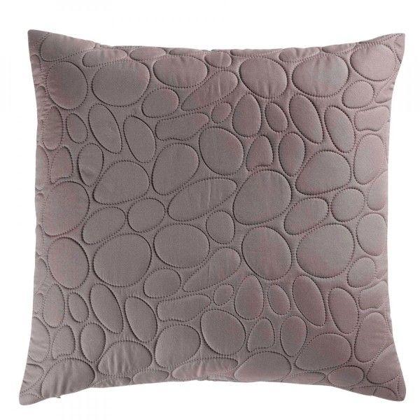 coussin et housse de coussin taupe coussin et galette eminza. Black Bedroom Furniture Sets. Home Design Ideas