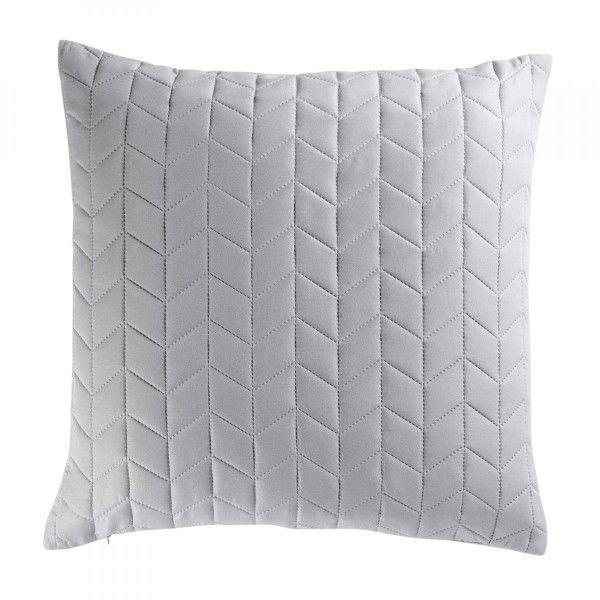 housse de coussin 60 cm erika gris d co textile eminza. Black Bedroom Furniture Sets. Home Design Ideas