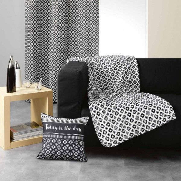 plaid cocooning blanc plaid et jet eminza. Black Bedroom Furniture Sets. Home Design Ideas