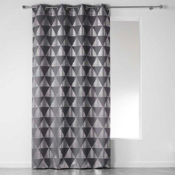 rideau tamisant 140 x 280 cm frosty gris anthracite. Black Bedroom Furniture Sets. Home Design Ideas