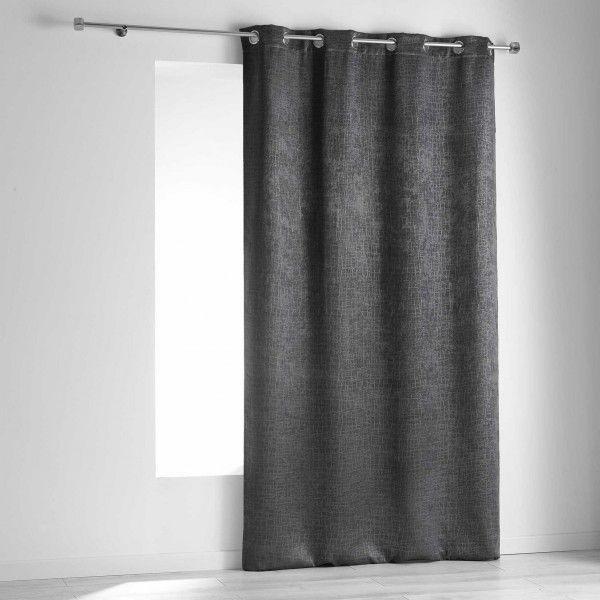 rideau occultant 140 x 240 cm opacia gris anthracite. Black Bedroom Furniture Sets. Home Design Ideas