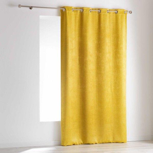 rideau occultant 140 x 240 cm opacia jaune rideau voilage store eminza. Black Bedroom Furniture Sets. Home Design Ideas