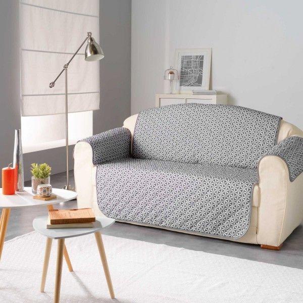 housse de canap 3 places kiria gris d co textile eminza