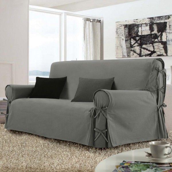 housse de canap 3 places stella gris housse de canap. Black Bedroom Furniture Sets. Home Design Ideas