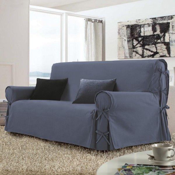 housse de canap 3 places stella bleue d co textile eminza. Black Bedroom Furniture Sets. Home Design Ideas