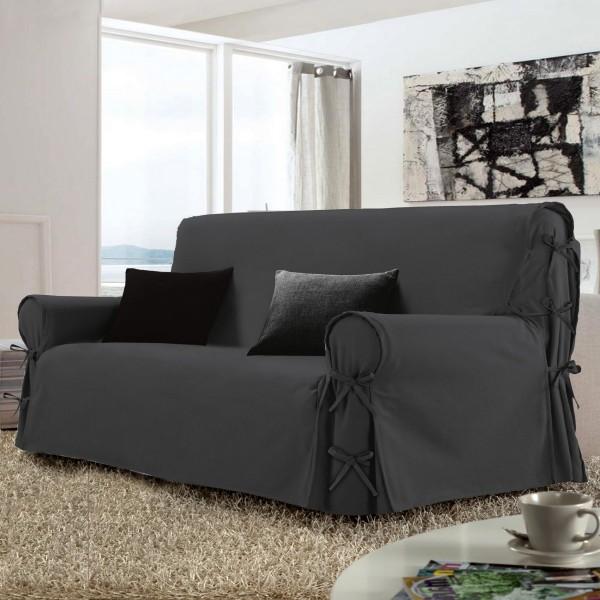 housse de canap 2 places stella gris anthracite housse de canap et clic clac eminza. Black Bedroom Furniture Sets. Home Design Ideas