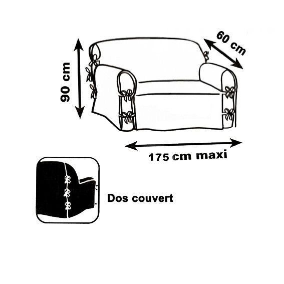 housse de canap 2 places stella gris anthracite d co. Black Bedroom Furniture Sets. Home Design Ideas