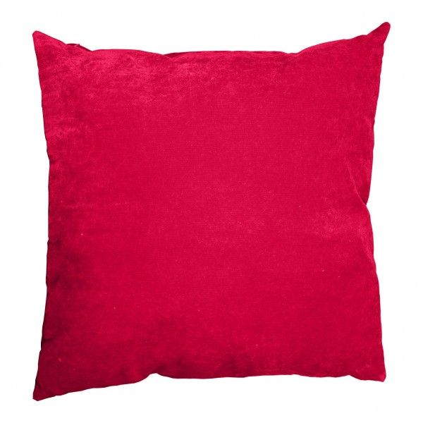 Coussin (60 cm) Velours Rouge