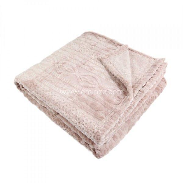 plaid cocooning rose plaid et jet eminza. Black Bedroom Furniture Sets. Home Design Ideas