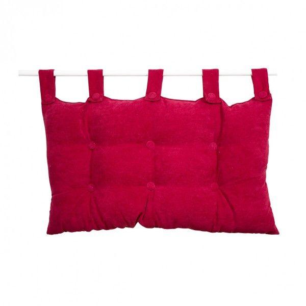 t te de lit rouge linge de lit eminza. Black Bedroom Furniture Sets. Home Design Ideas