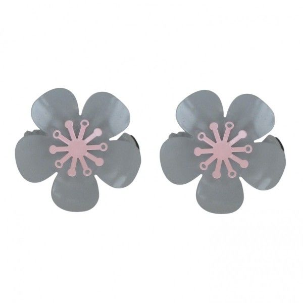 Lot de 2 pinces Giulia Gris et Rose