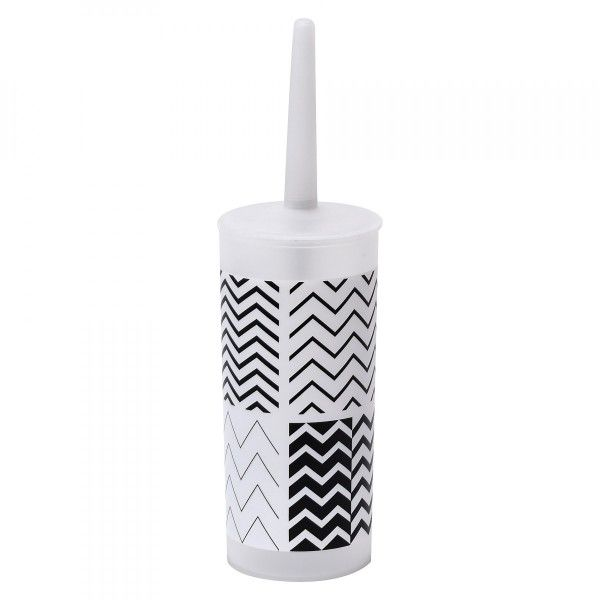 Brosse WC Black and White Blanc