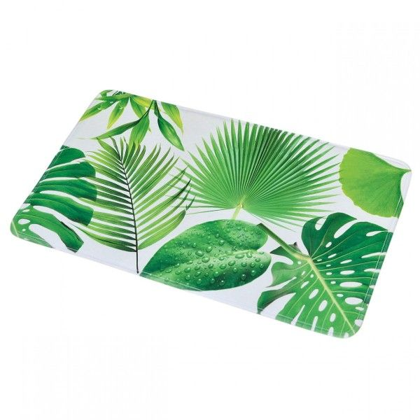 tapis de bain jardin chic vert tapis eminza. Black Bedroom Furniture Sets. Home Design Ideas