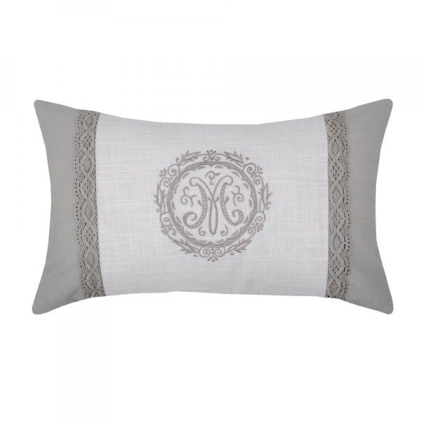 Coussin rectangulaire Marie Gris