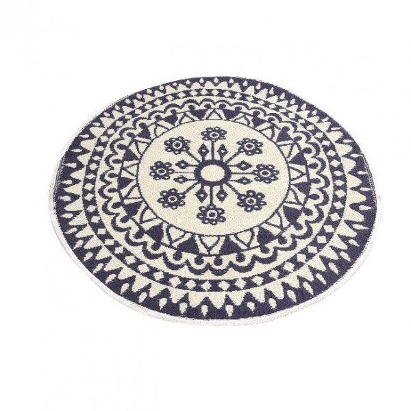 tapis rond d150 cm anoki violet tapis eminza. Black Bedroom Furniture Sets. Home Design Ideas