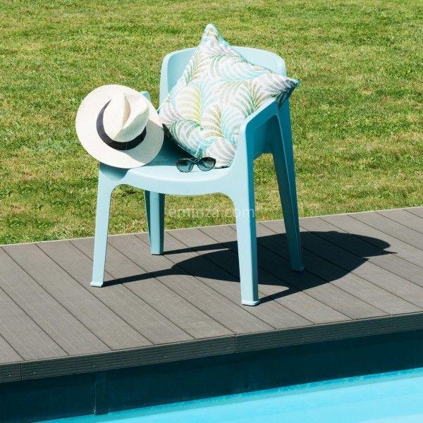 Sedia da giardino impilabile new york blu salotto da for Giardino 54 nyc