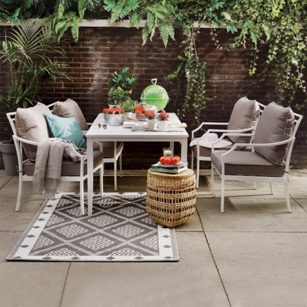 Tavolo da giardino alluminio venice bianco salotto da for Arredo giardino mestre
