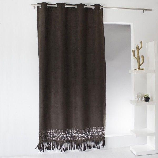 rideau tamisant marron rideau et voilage eminza. Black Bedroom Furniture Sets. Home Design Ideas