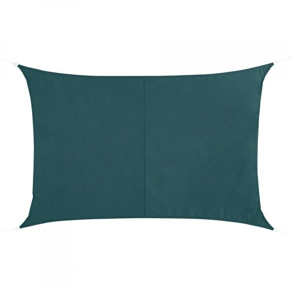 Voile d'ombrage Rectangulaire (3 x 4m) Curacao - Emeraude