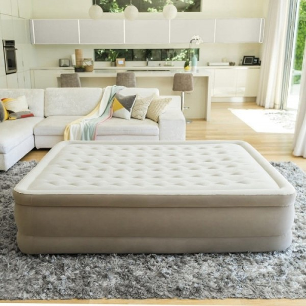 matelas gonflable lectrique ultra plus 2 places intex. Black Bedroom Furniture Sets. Home Design Ideas