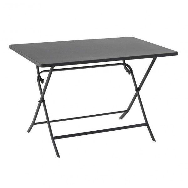 table de jardin rectangulaire pliante m tal greensboro 110 x 70 cm ardoise table de jardin. Black Bedroom Furniture Sets. Home Design Ideas