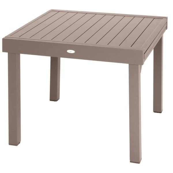 Table de Jardin extensible Piazza Aluminium (180 x 90 cm) - Moka ...