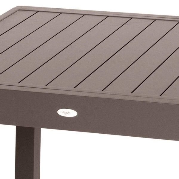 Table de Jardin extensible Piazza Aluminium (320 x 100 cm)- Moka