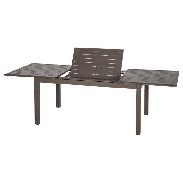 Table de jardin extensible Aluminium Azua (240x 100 cm) - Marron