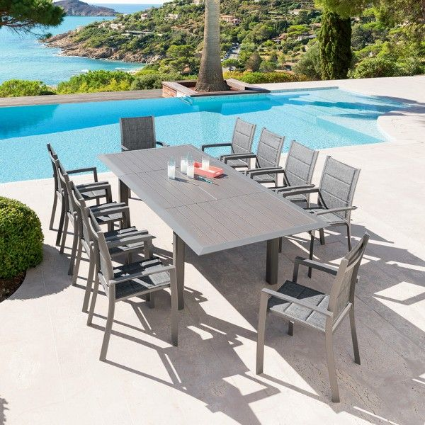 Table de jardin extensible Aluminium Allure (254 x 115 cm) - Mastic
